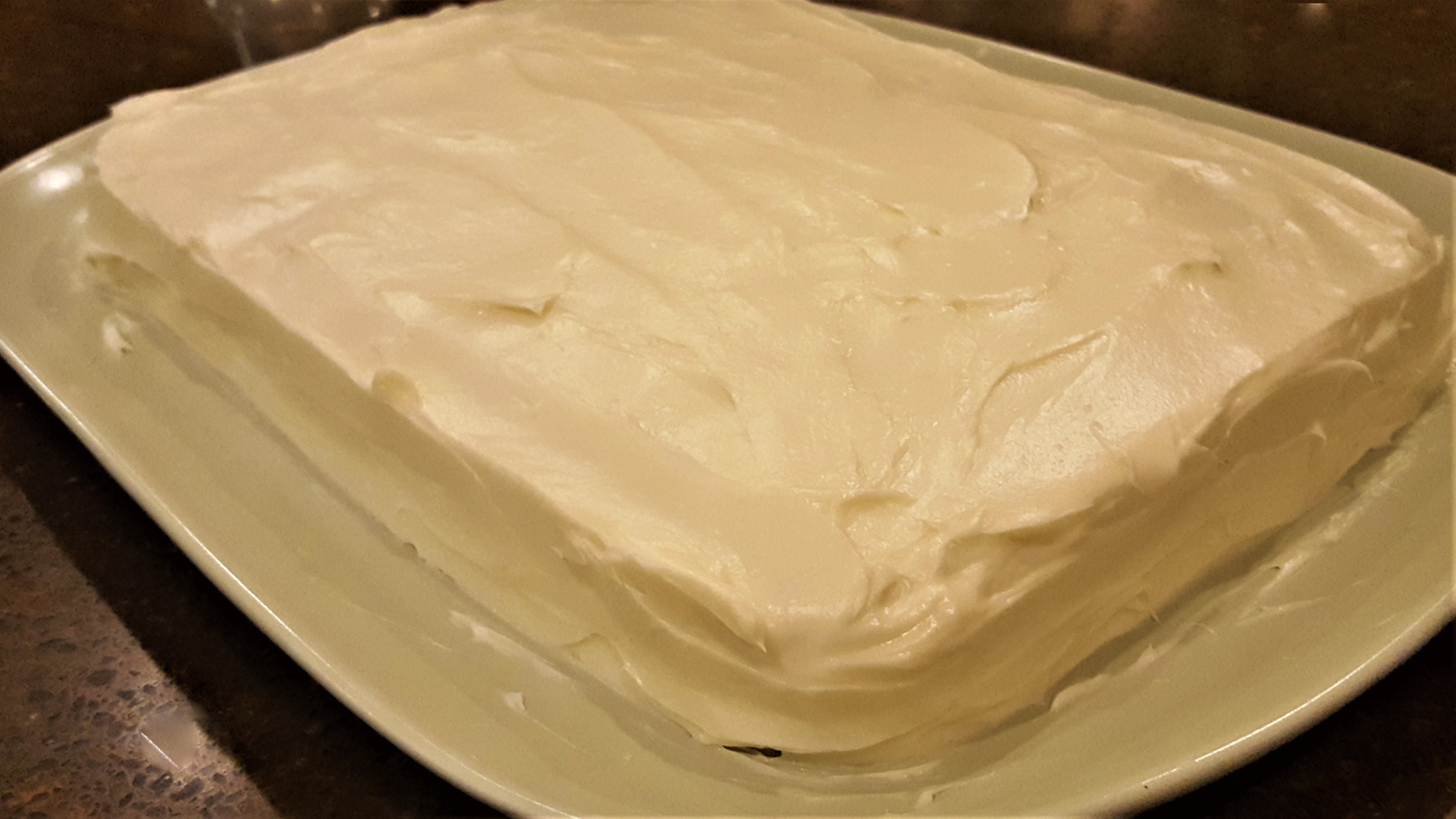 Strawberry Banana Cake With Cream Cheese Frosting Dining In With Danielle