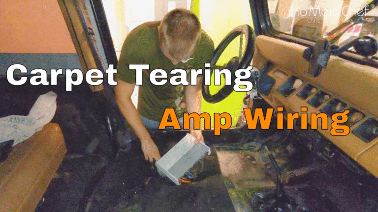 How To Install Amplifier And Remove Carpet - Chris Does What