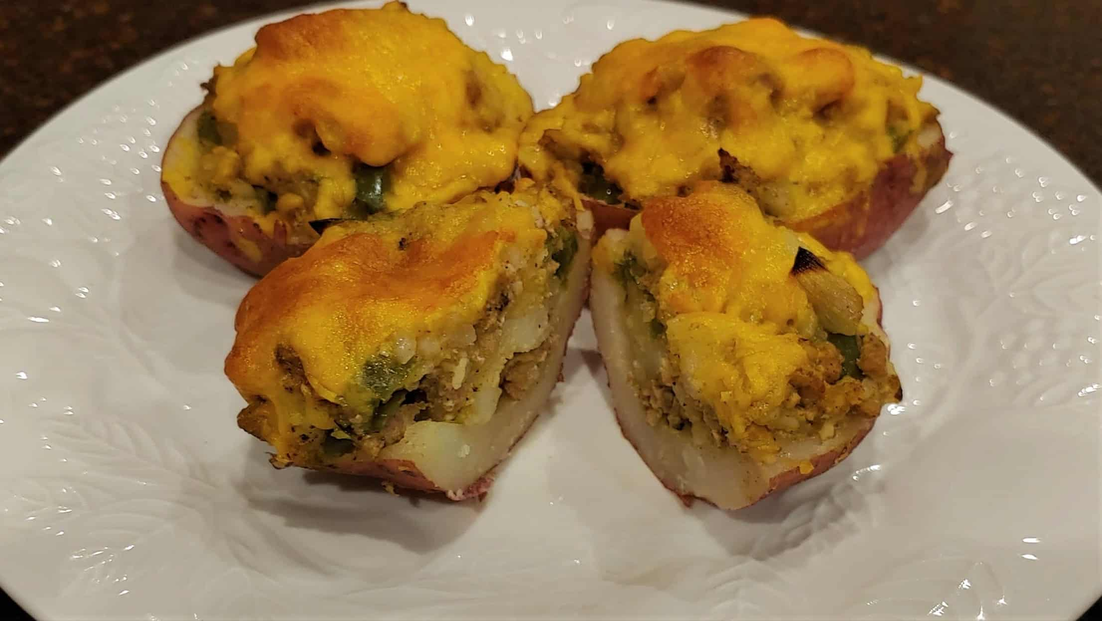 Twice Baked Potatoes - Dining in with Danielle