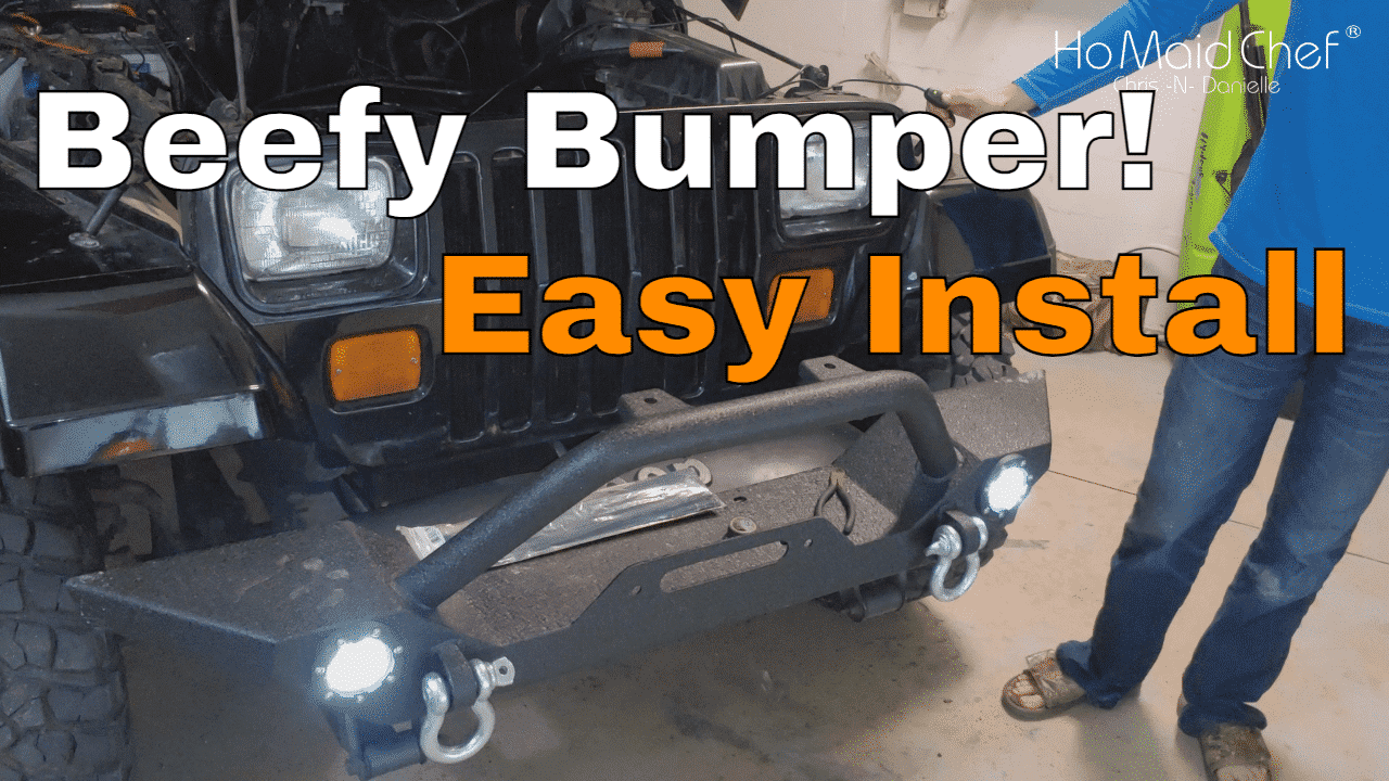 How To Install Bumper With Led Lights Jeep Mods E35