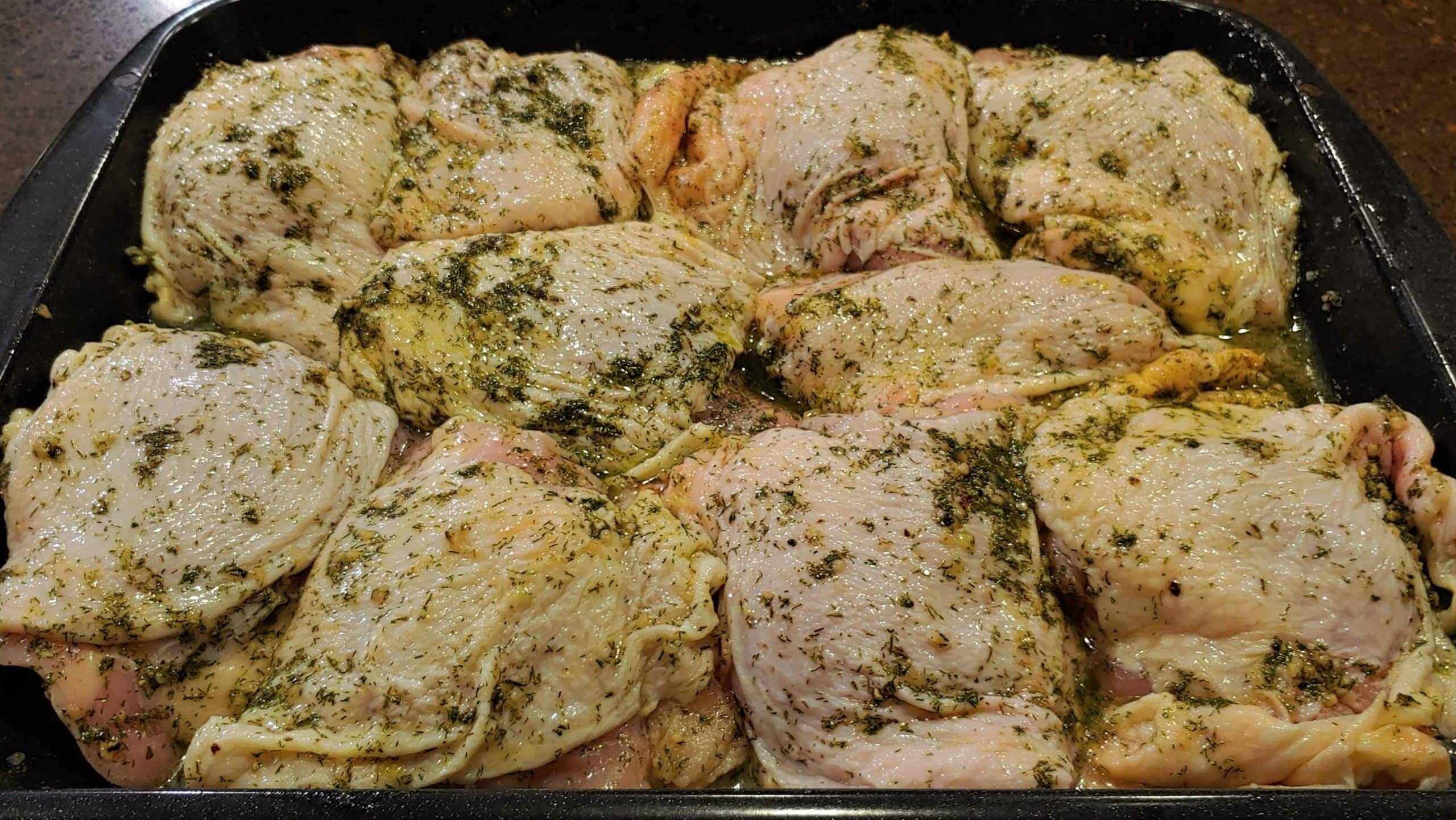 Marinated Chicken Thighs - Dining in with Danielle