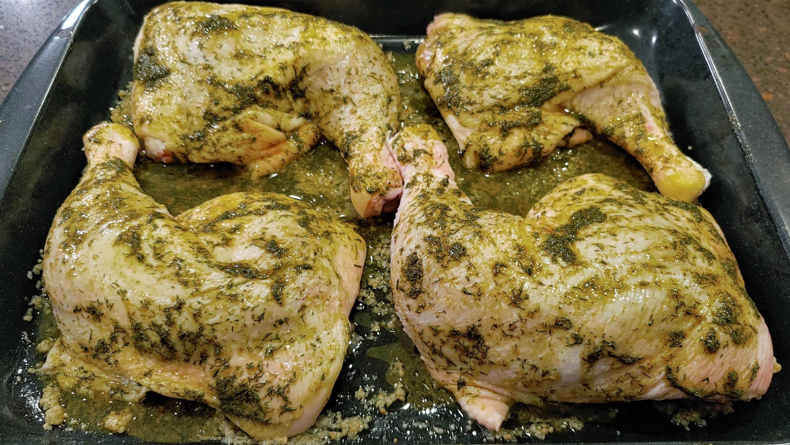 Marinated Chicken Leg Quarters - Dining in with Danielle