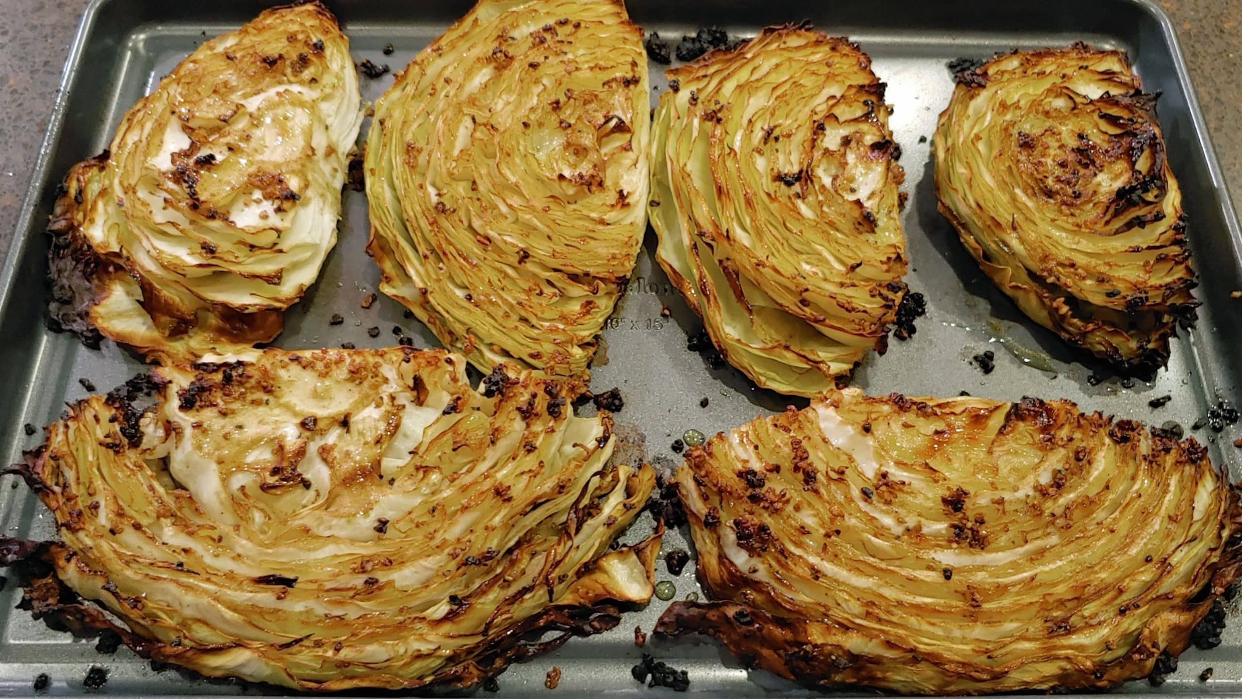 Roasted cabbage steaks - Dining in with Danielle
