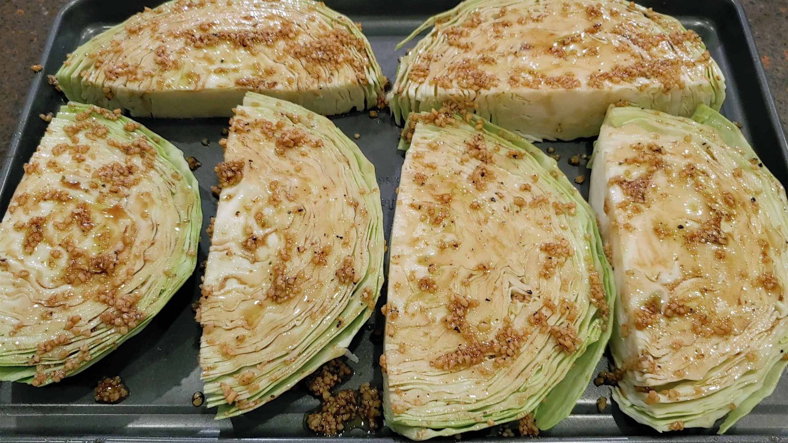 marinated cabbage steaks - Dining in with Danielle