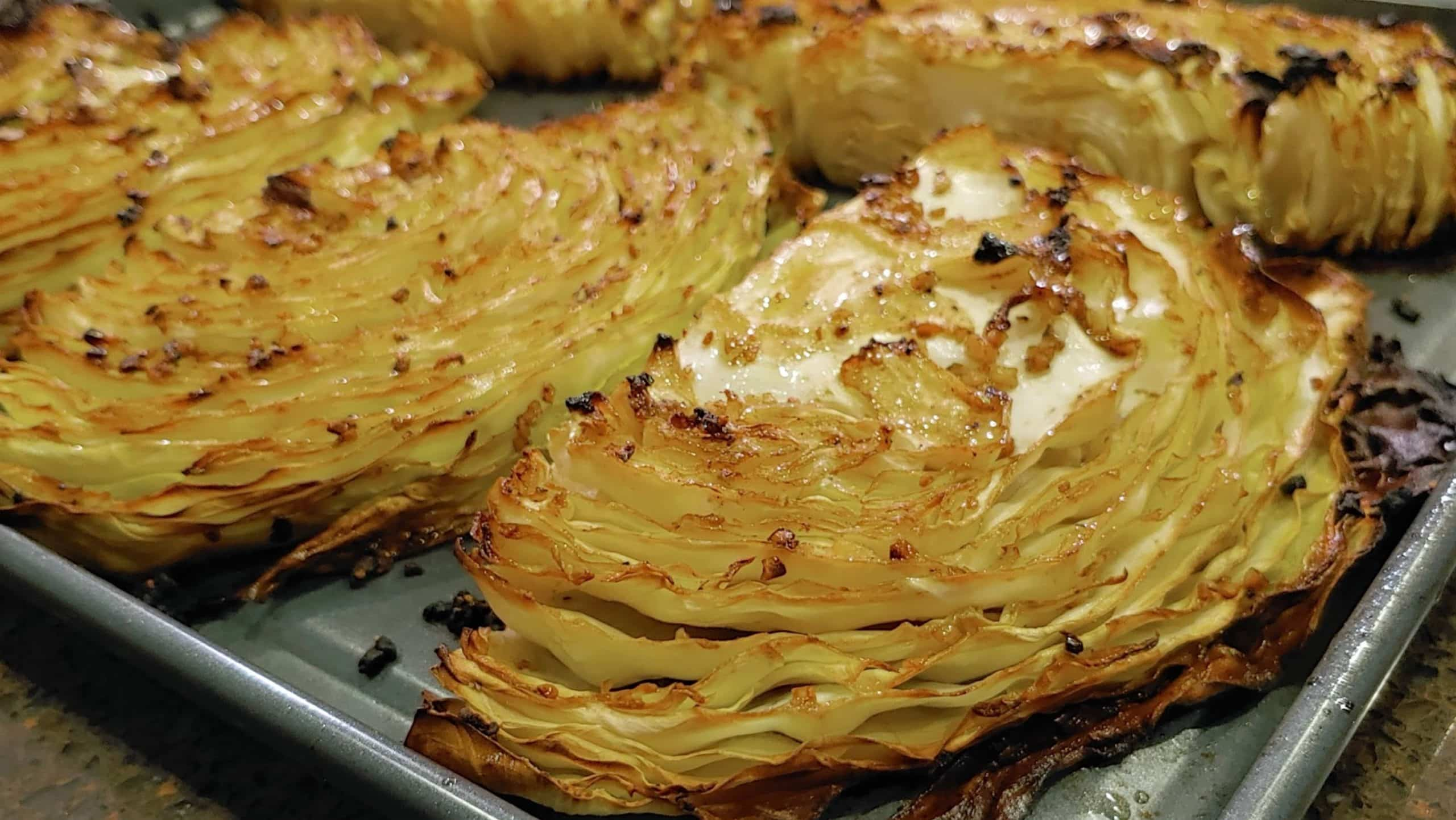 roasted cabbage - Dining in with Danielle
