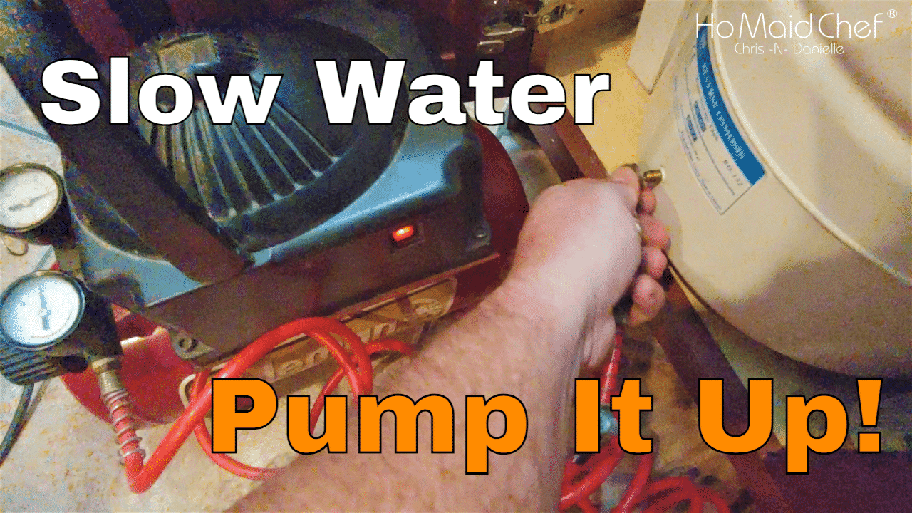 How To Fix Reverse Osmosis Slow Flow, Easy Re-Pressurize System Tank - Get Water Flow Back - Chris Does What