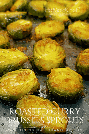 Roasted Curry Brussels Sprouts
