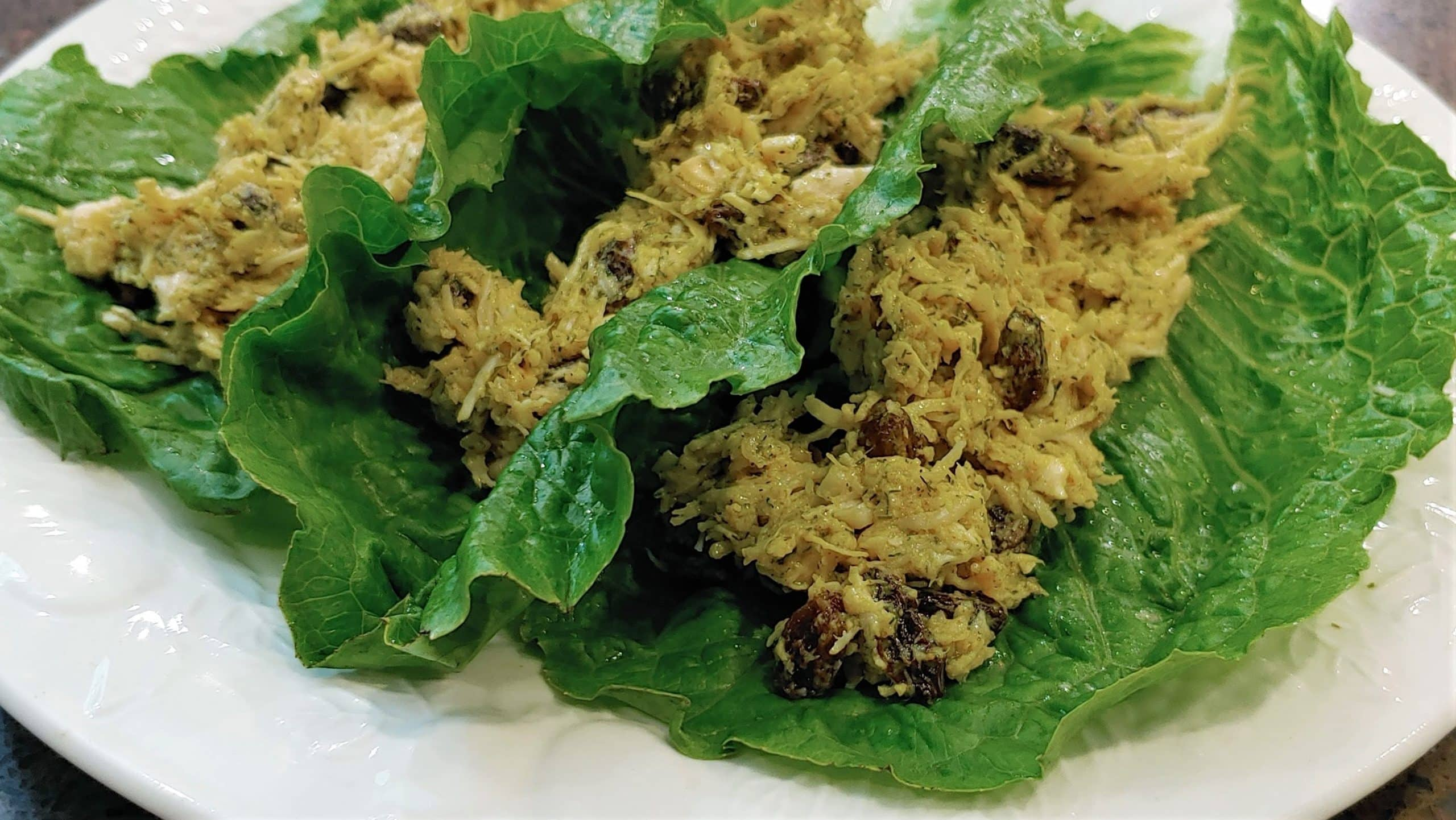 Chicken Salad lettuce wraps - Dining in with Danielle