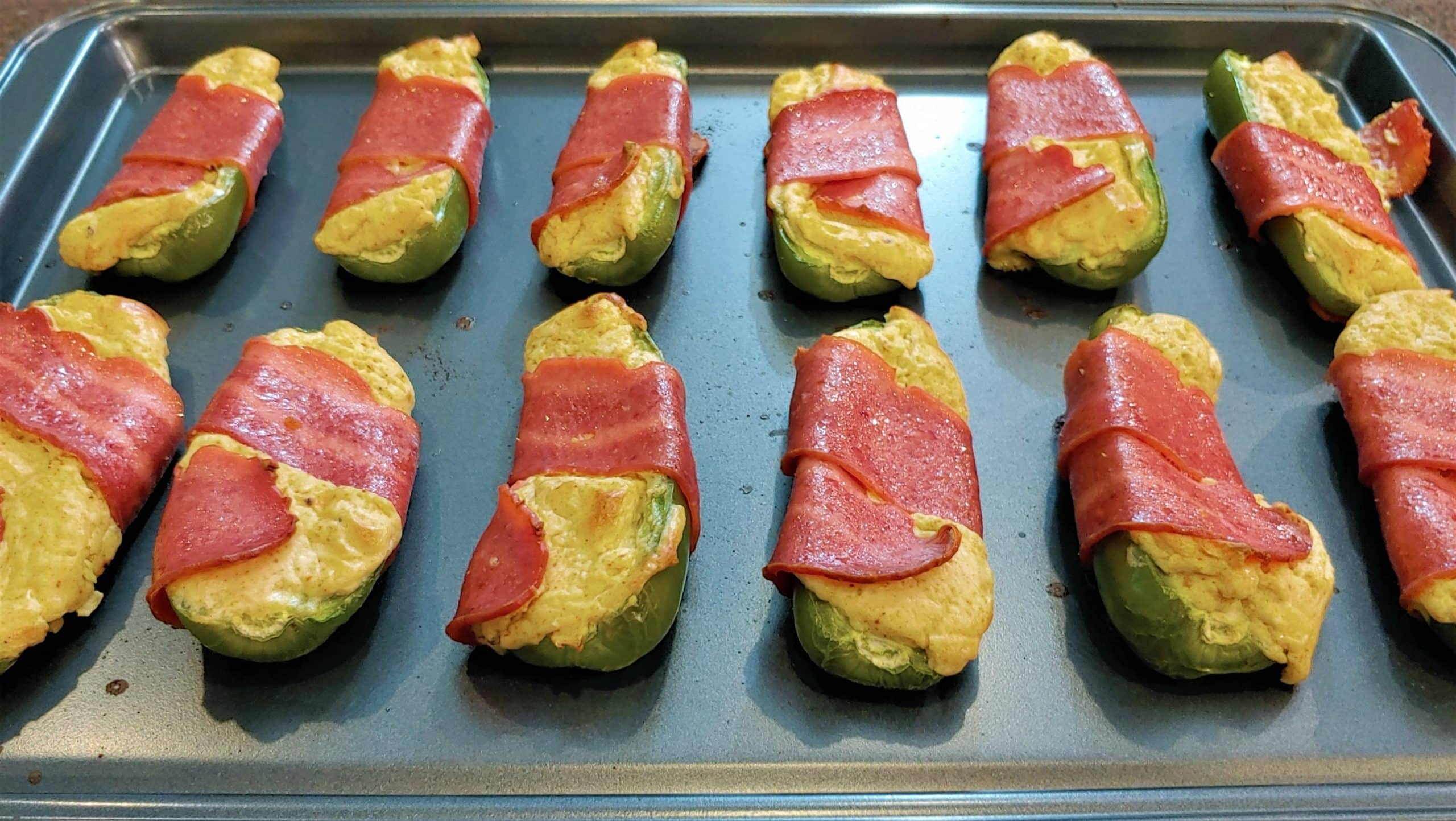 Jalapeno poppers bacon wrapped - Dining in with Danielle