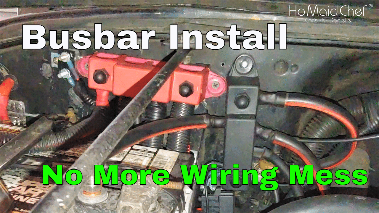 Installing High Amp Battery Busbars, Cleaning Jeep Wiring