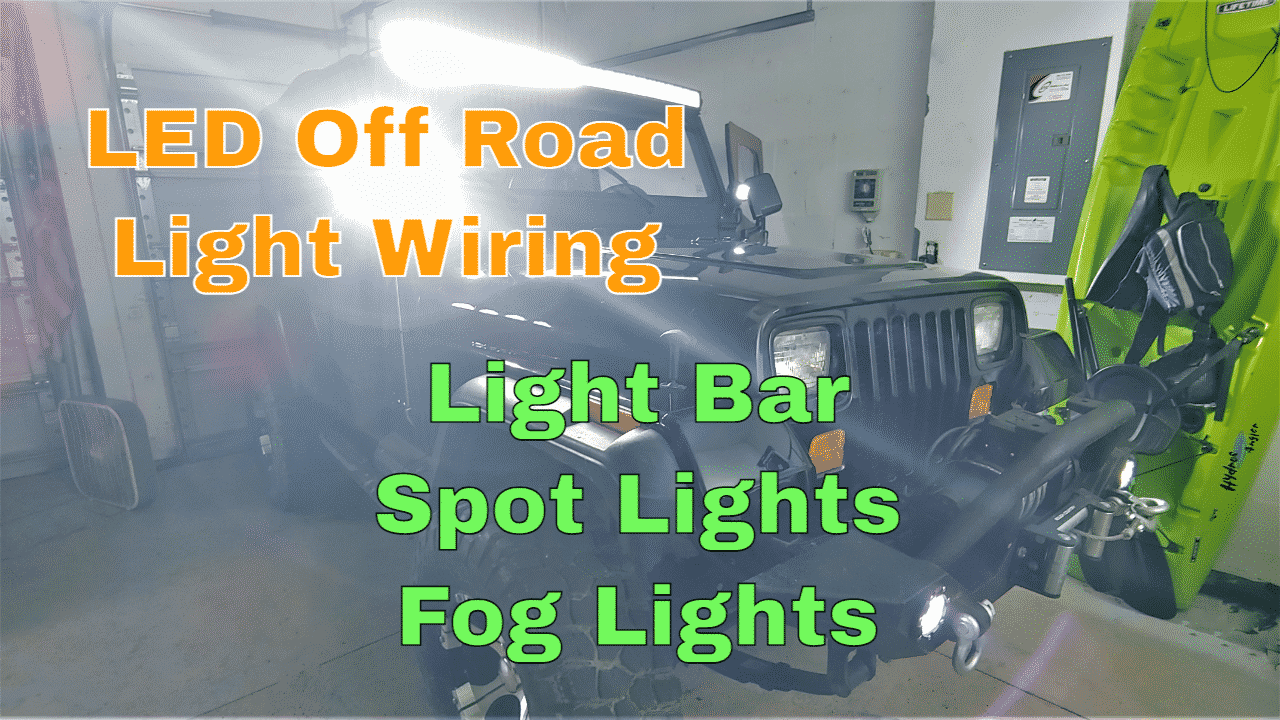 Wiring LED Light Bar, Spot Lights, and Fog Lights On Jeep - Chris Does What