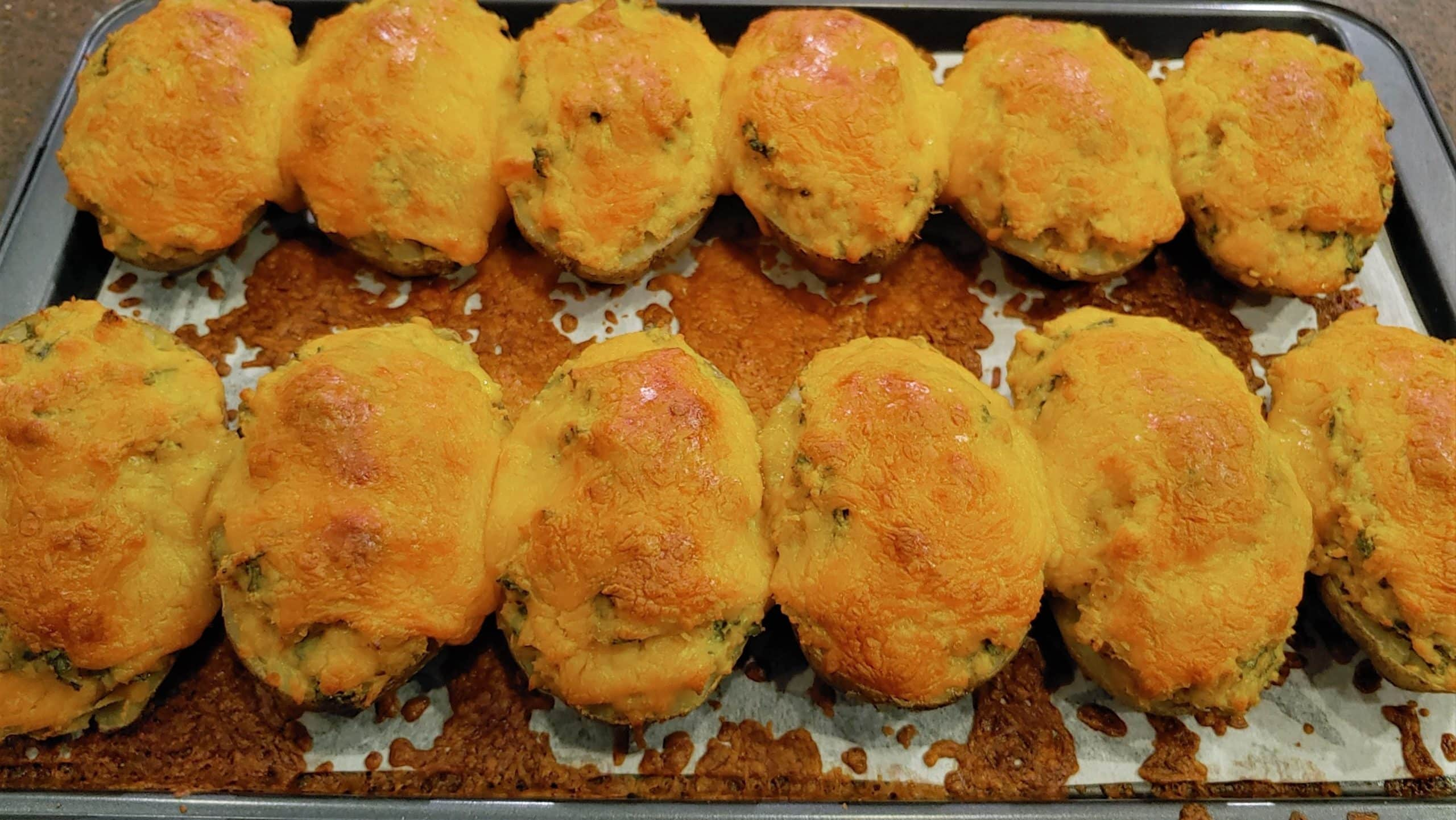 Twice Baked Russet Potatoes - Dining in with Danielle